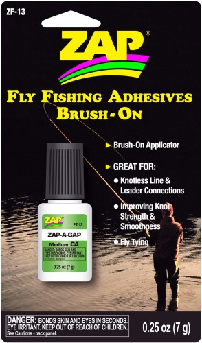 Zap Fly Fishing Adhesive Brush On