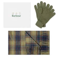 Barbour Glove and Scarf Set