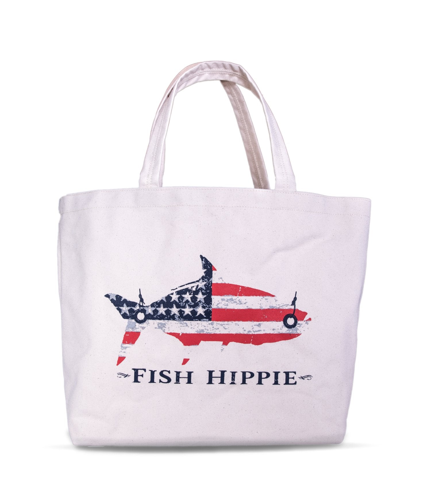 Fish Hippie  Printed Canvas Tote