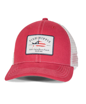 Fish Hippie Patriotic Trucker