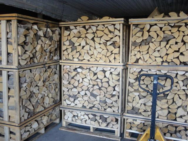 Kiln Dried Logs in crates