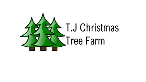 TJ Christmas tree farm logo