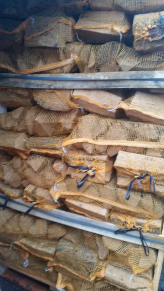 Kiln Dried Oak 10kg nets 72 nets delivered - logsandfuel