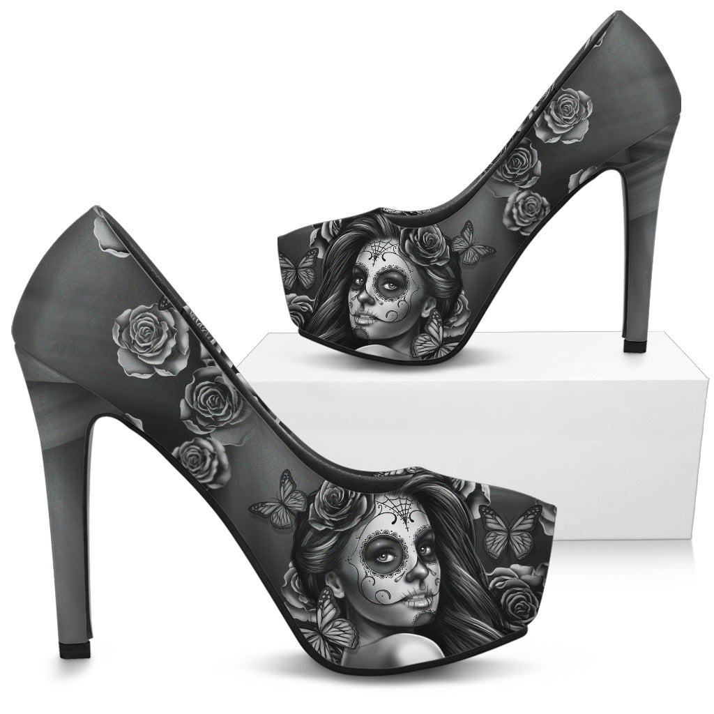 Day Of The Dead Heels