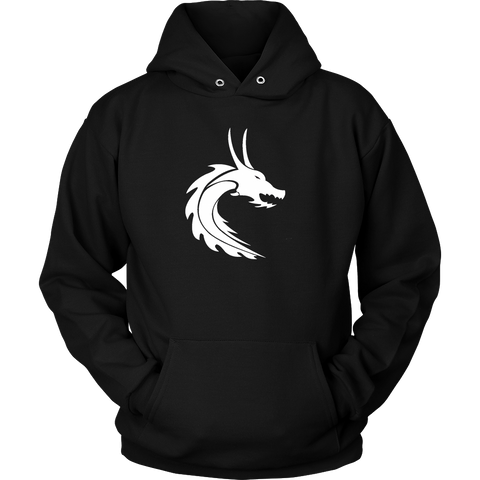 Mens & Ladies White Steamdragons Logo Hoodie