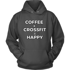 Limited Edition Crossfit and Coffee Makes Me Happy Hoodie