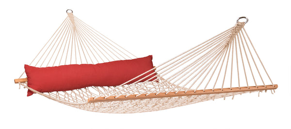 La Siesta Kingsize Spreader Bar Rope Hammock CALIFORNIA red pepper