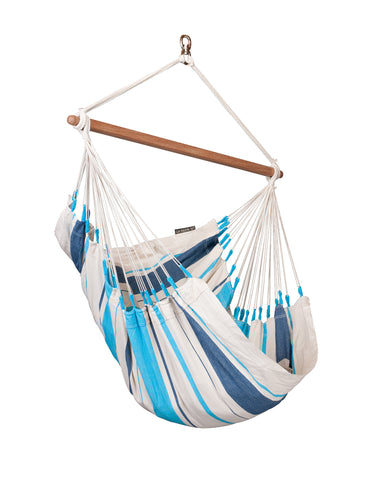 La Siesta Hammock Chair Basic  CARIBEÑA aqua blue
