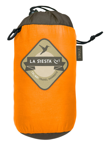 La Siesta Single Travel Hammock COLIBRI orange