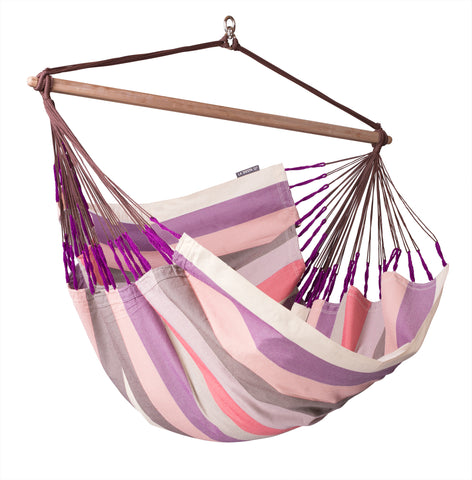 La Siesta Hammock Chair Lounger DOMINGO plum