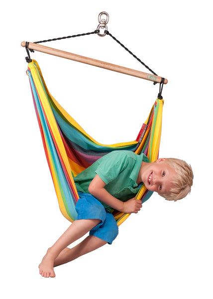 La Siesta Hammock Chair for Children IRI rainbow