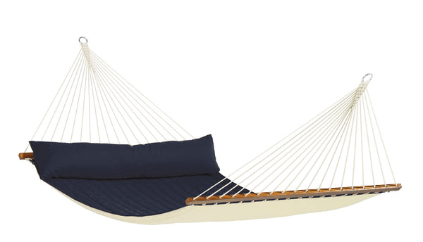 La Siesta Kingsize Spreader Bar Padded Hammock ALABAMA navy blue
