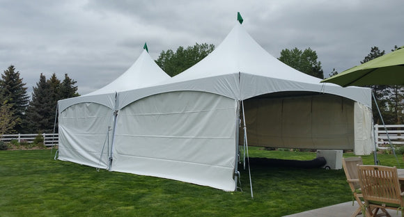 Tent Side Wall - Solid White - Perfect Party Place