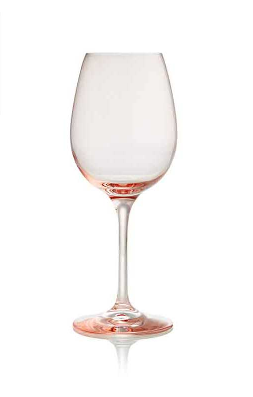 Aurora Blush Wine Glass