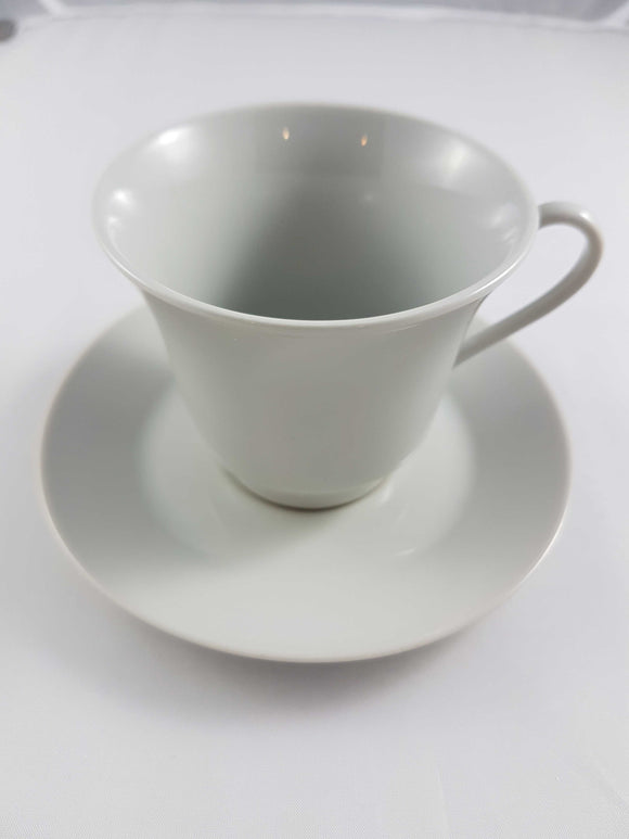 Primary White Bell Coffee Cup w/Saucer