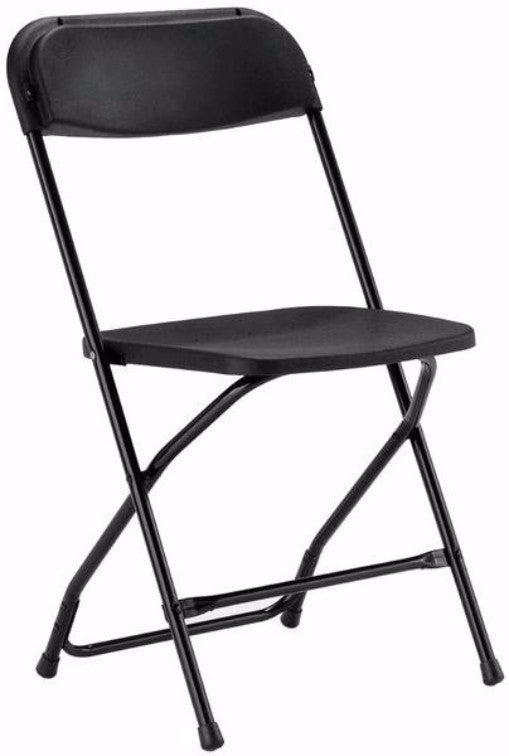 Black Plastic Folding Chair - Perfect Party Place