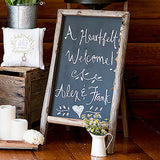 Self Standing Rustic Chalkboard Sign - Perfect Party Place