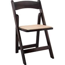 Folding Chair - Formal Fruitwood w/White Seat