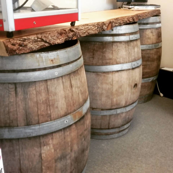 LiveEdge/Wine Barrel Bar - 8'