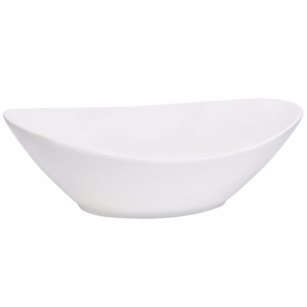 "White Oval Serving Bowl 10.5"" x 8"" x 6"""