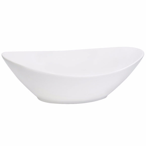 White Oval Serving Bowl 10.5