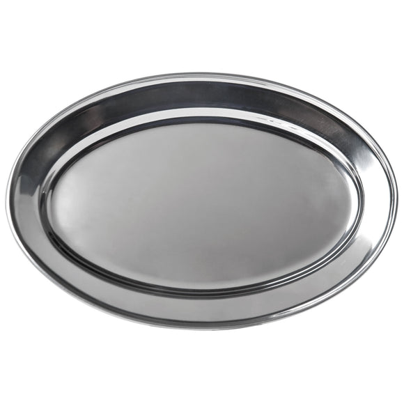 Stainless Steel Oval Platter 13.5