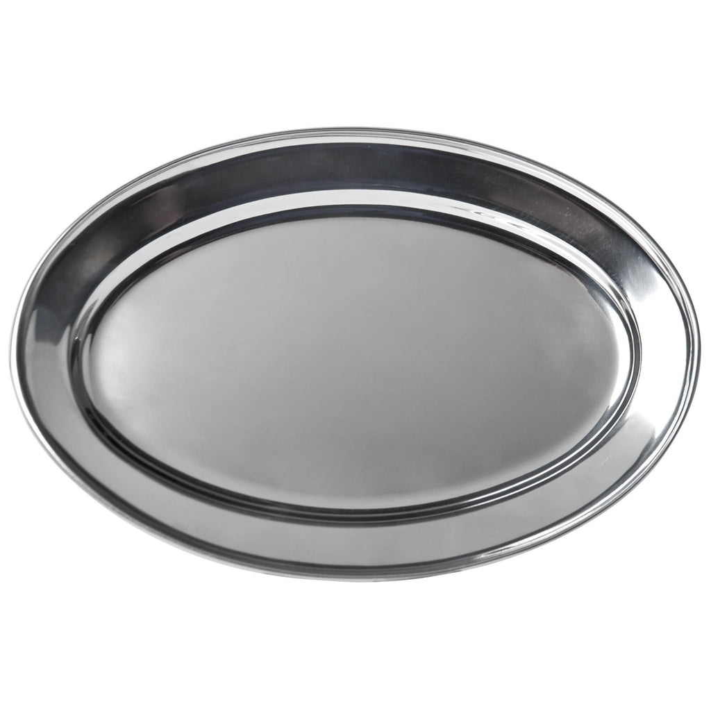 Stainless Steel Oval Platter 17.5""