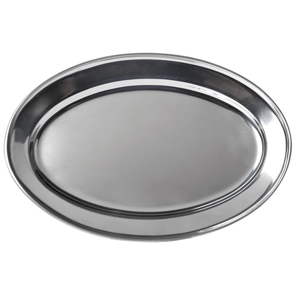 Stainless Steel Oval Platter 17.5