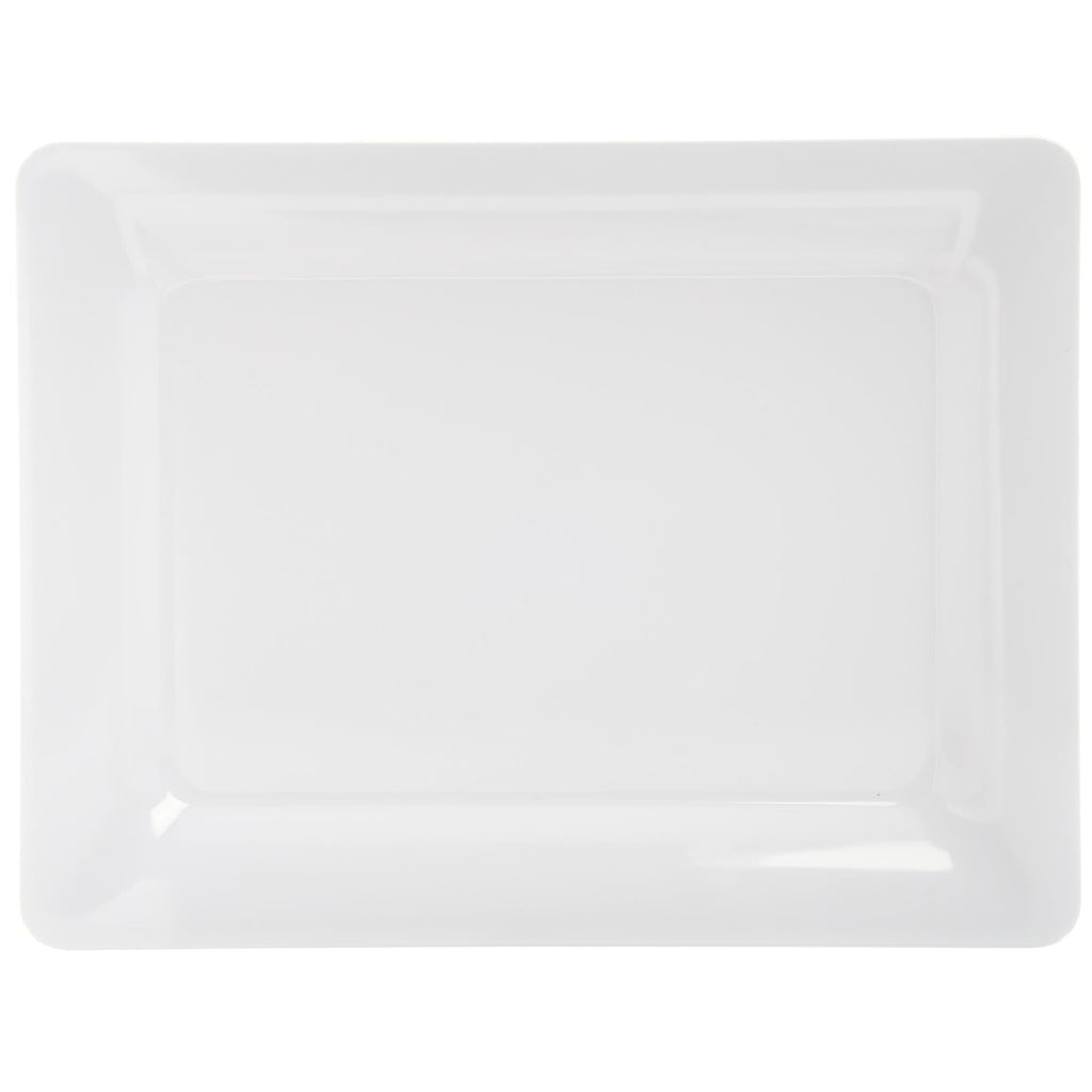 "White Rectangular Platter 6.5"" x 12"""