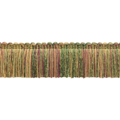 Dark Claret, Branch, Green, Oak Brown Duke Collection Brush Fringe 1 3/4 inch Long Style# 0175DKB Color:  Bramble - N14C  (Sold by The Yard)