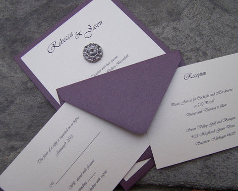 Astonishing Bejeweled Invitation Set