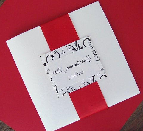 Patterned Pocketfold Invitation Set