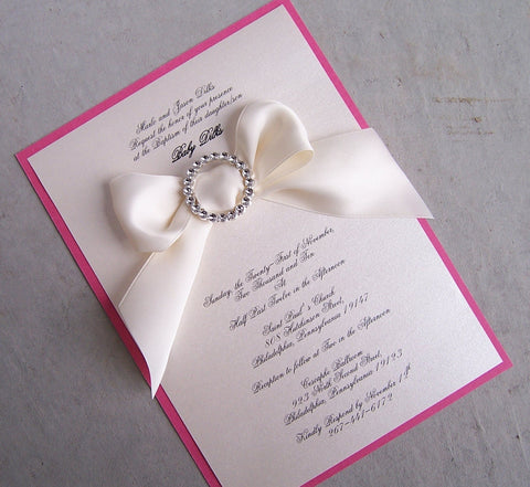 The Ribbon Christening /Baptism Invitation