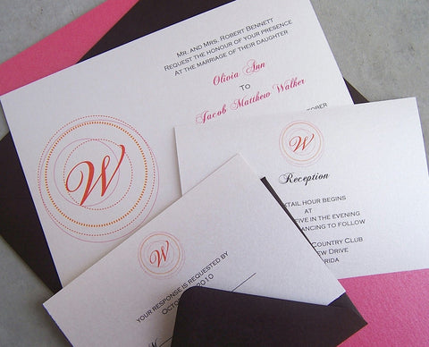 The Classic Monogram Invitation Set