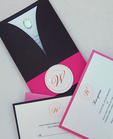 The Gatefold Monogram Invitation Set