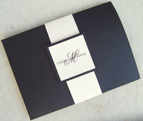Tuxedo Pocketfold Invitation Set