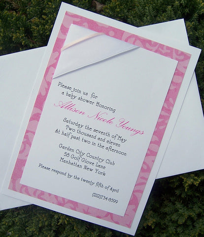 Baby shower invitation, girl shower invitation, pink baby invitation, elegant baby shower invitation, modern shower invitation