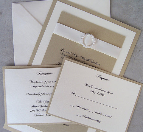 Complete Elegance Pearl Invitation Set