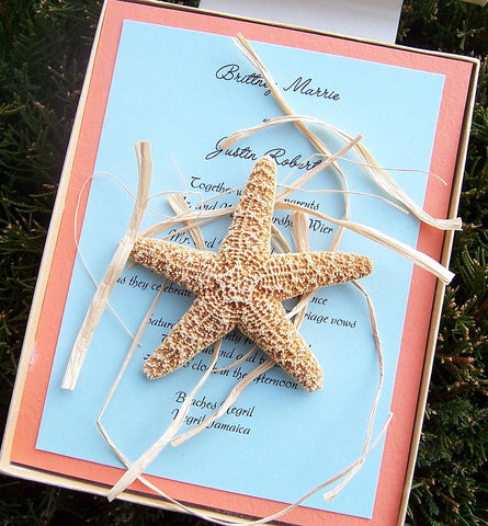 Boxed Starfish Invitation 2