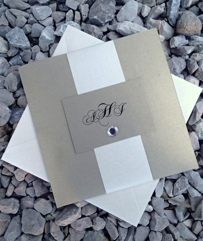 Handmade Pocket Fold invitation, Gold Pocket Fold Wedding Invitation, Ivory Event Invitation, Pocketfold Wedding Invite