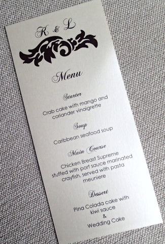 Flourish Menu