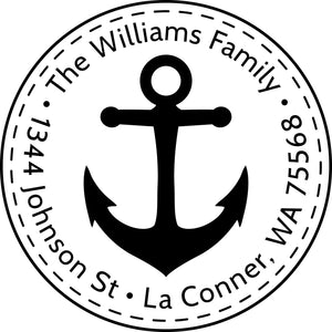 Personalized Nautical Stamp - Self Inking, Personalized Return address Stamp, Customized return address Stamp