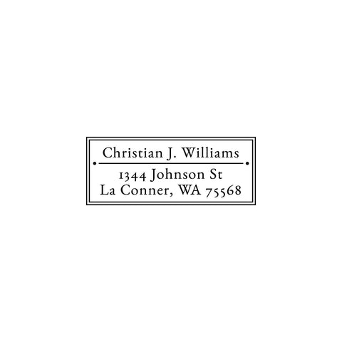 Return Address Stamp, Custom Address Stamp, Personalized Address Stamp