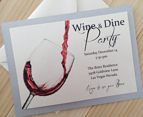 Wine and Dine Party Invitation