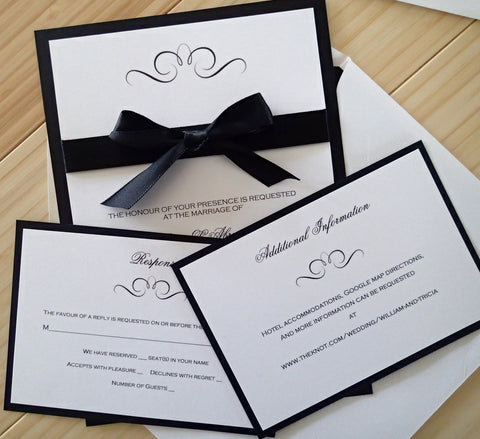 Complete Elegance Ribbon and Bow invitation set