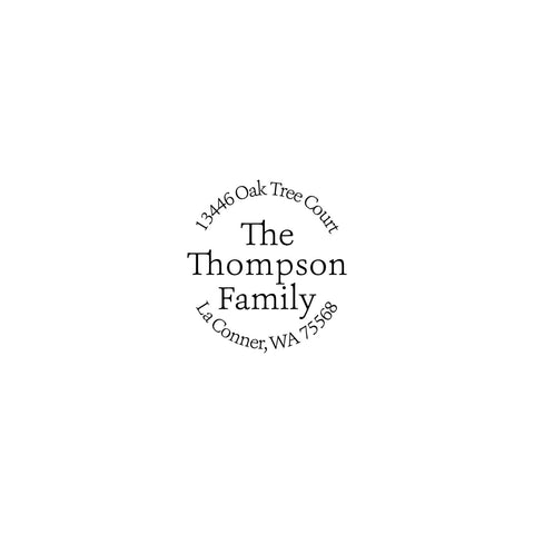 family self inking custom stamp the extra detail