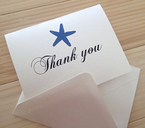 Custom Thank You Notes ( Set of 25) / Thank you Card/ Wedding Thankyou Card/ Personalized Beach Thank you Note