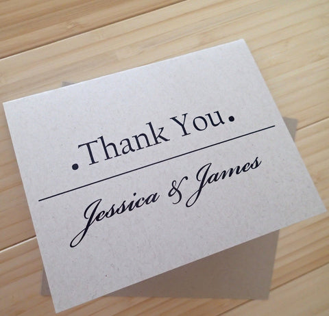 Custom Thank You Notes ( Set of 25) / Thank you Card/ Wedding Thankyou Card/ Personalized Rustic Thank you Note