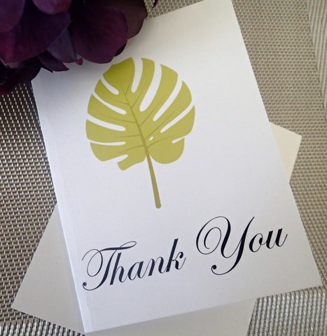 Custom Thank You Notes ( Set of 25) / Thank you Card/ Wedding Thankyou Card/ Personalized Tropical  Thank you Note