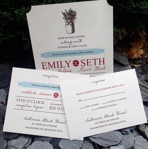 Complete Rustic/Vintage Invitation Set